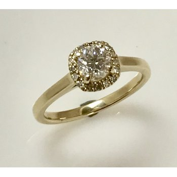 14KY Halo Engagement Ring
