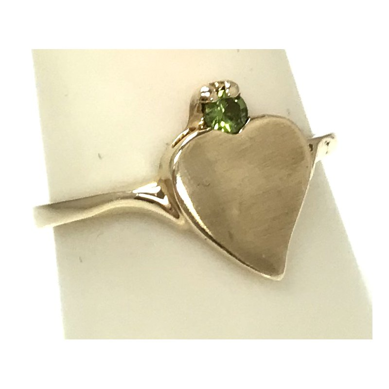 Estate Specials 10ky Heart Ring with Peridot