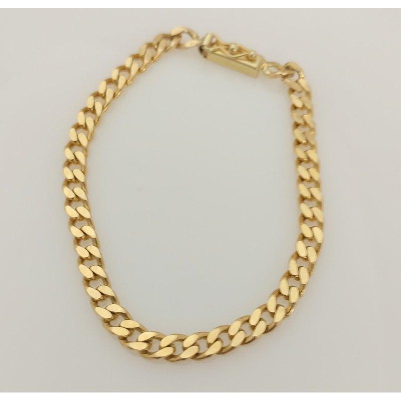 Estate Specials 14KY Heavy Curb Bracelet
