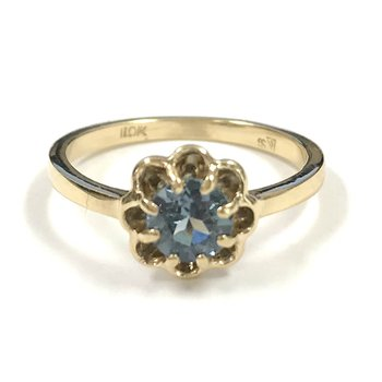 10k synthetic Blue Spinel Ring
