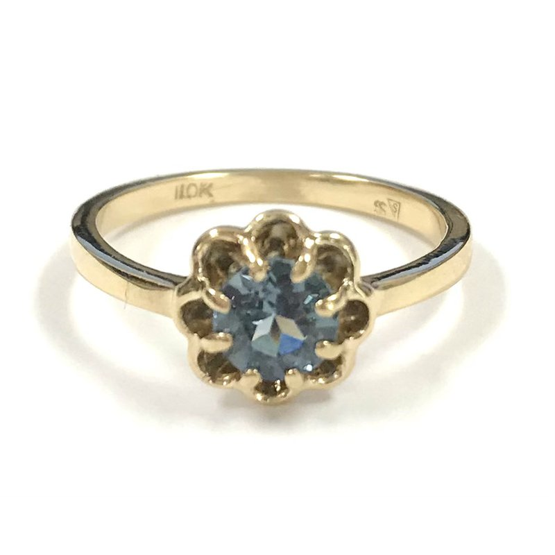 Estate Specials 10k synthetic Blue Spinel Ring