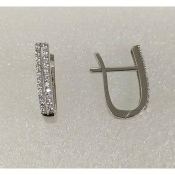 10KW Double Row CZ Earrings