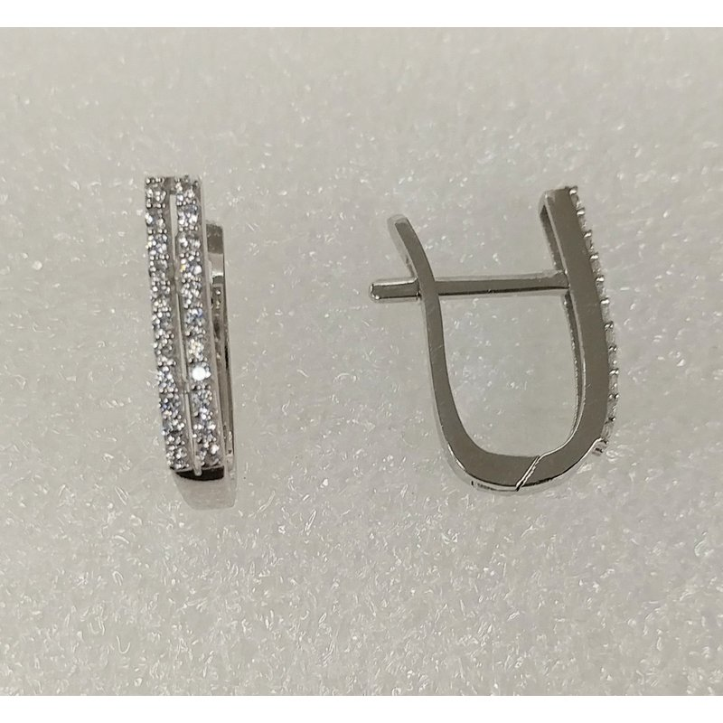 Showcase Collection 10KW Double Row CZ Earrings