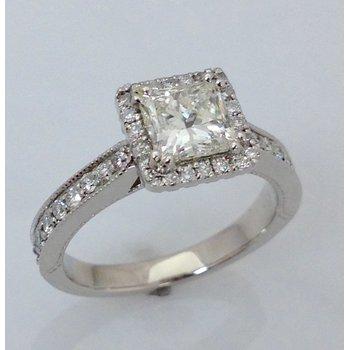 14KW Halo Engagement Ring
