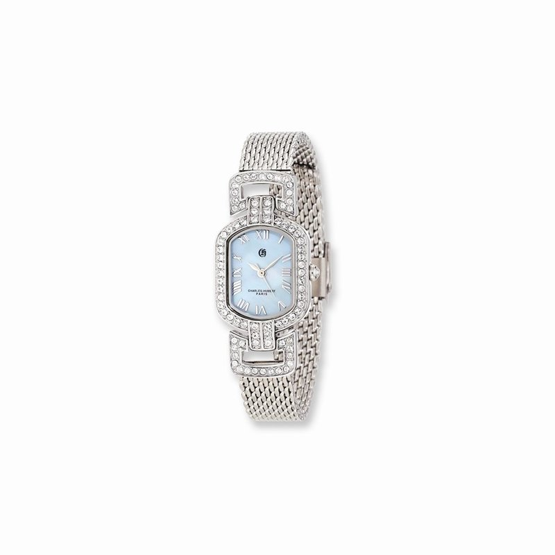 Charles Hubert Blue Mother of Pearl Dial Watch