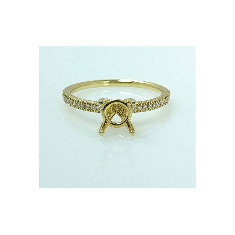 Showcase Collection 18KY Semi Set Engagement Ring with Diamond Accents