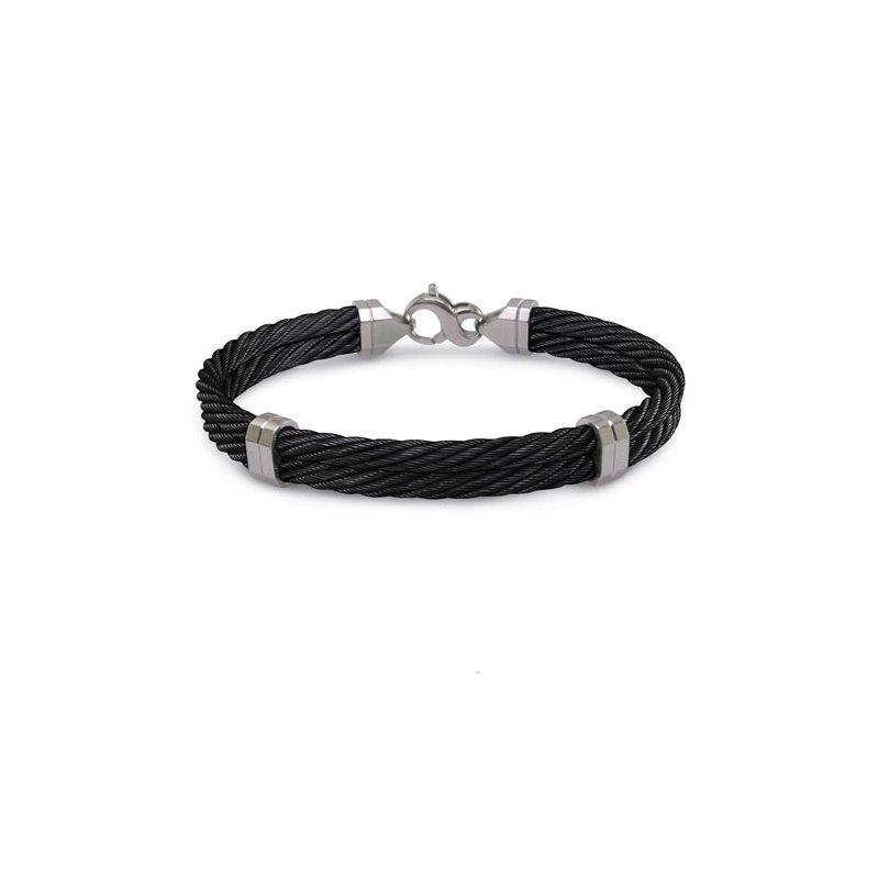 Showcase Collection Gent's Black Titanium Bracelet