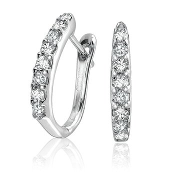 14KW Euroback Diamond Earrings