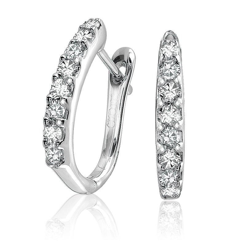 Showcase Collection 14KW Euroback Diamond Earrings