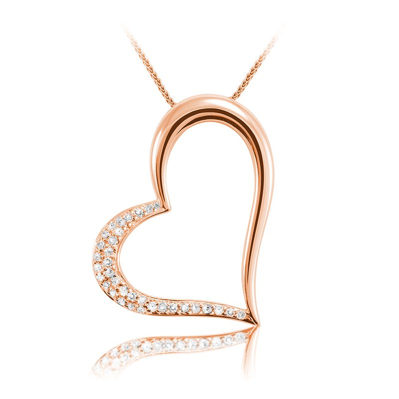Showcase Collection 14KR Heart Slide with Chain