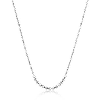 Silver Modern Multiple Balls Necklace