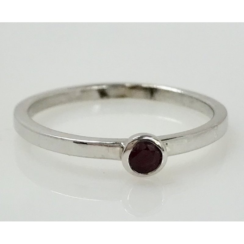 Showcase Collection Sterling Silver Ruby Ring