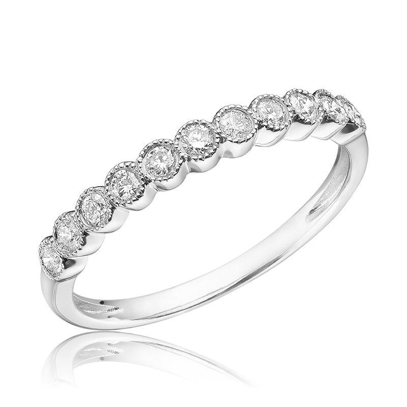 Showcase Collection 14KW Bezel Set Diamond Ring