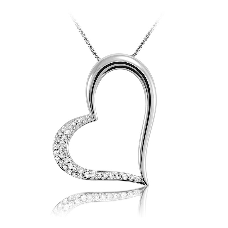 Showcase Collection 14KW Heart Slide with Chain