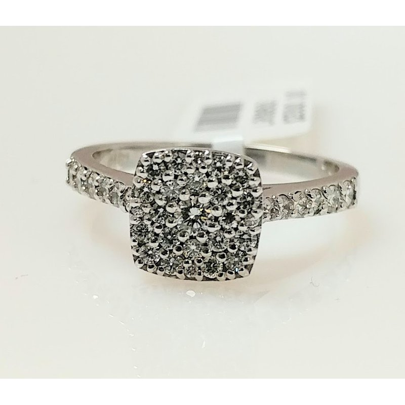 Showcase Collection 18KW Multi Stone Diamond Ring