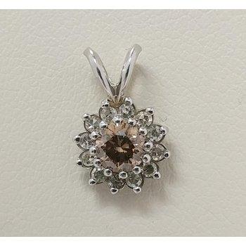 14KW Cognac Diamond Pendant