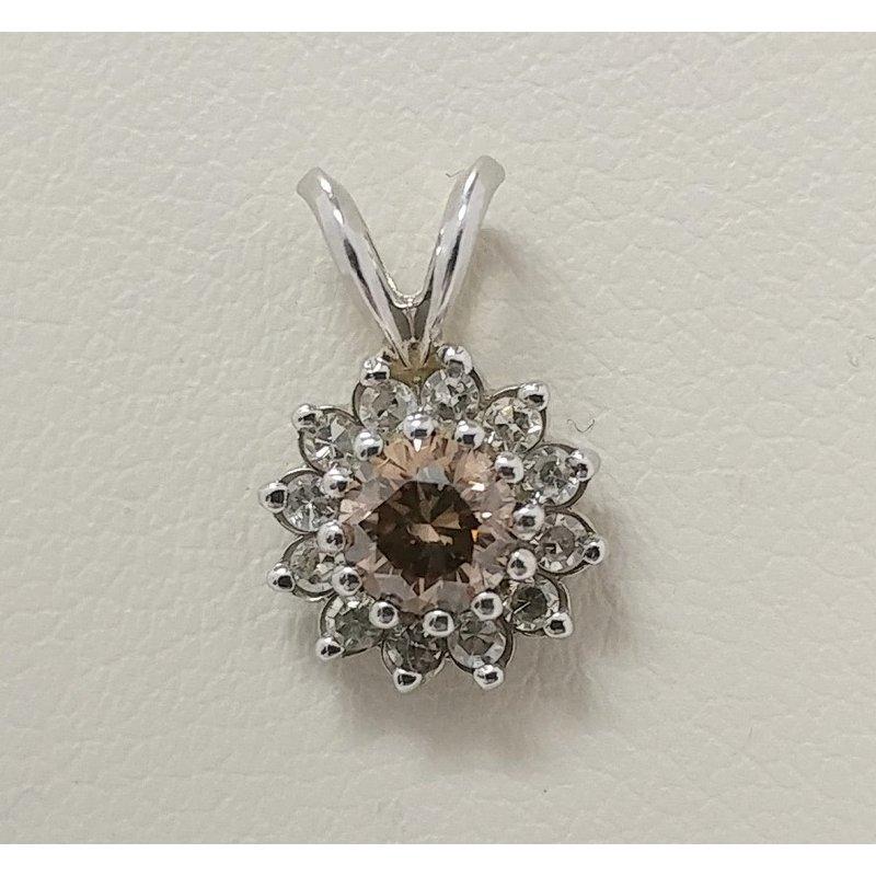 Showcase Collection 14KW Cognac Diamond Pendant