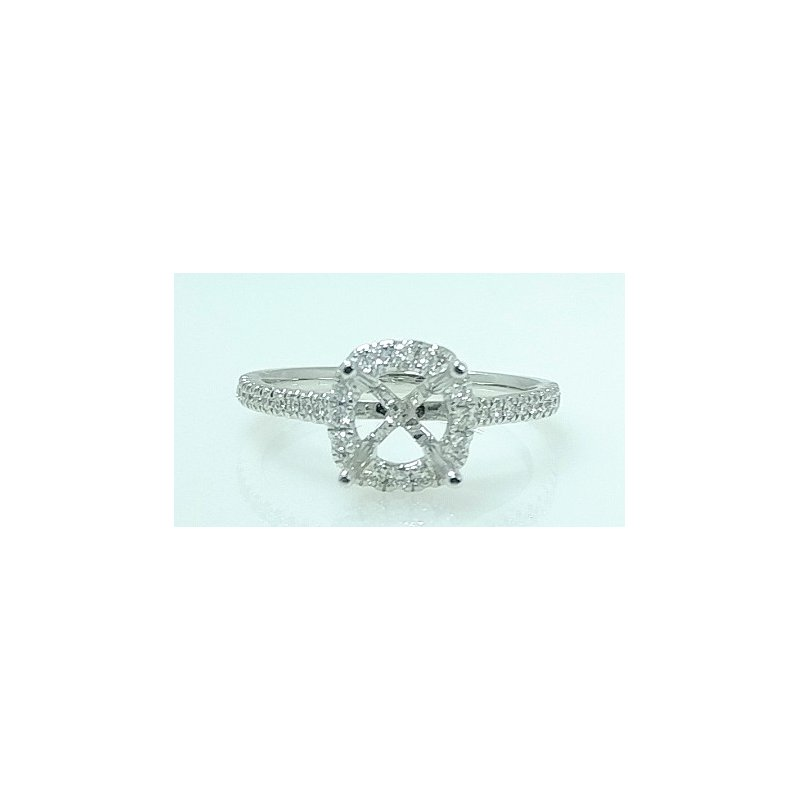 Showcase Collection 18KW Halo Semi Set Engagement Ring
