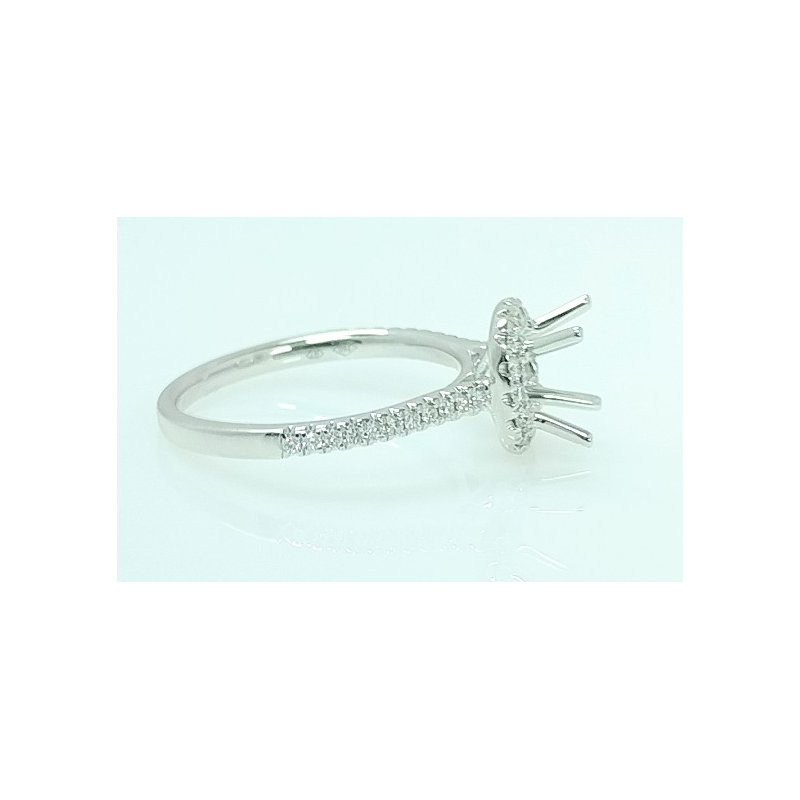 Showcase Collection 18KW Halo Semi Set Engagement Ring