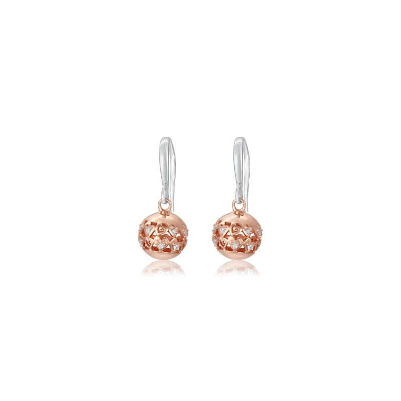 Showcase Collection Sterling Silver Rose Gold Plated Earrings