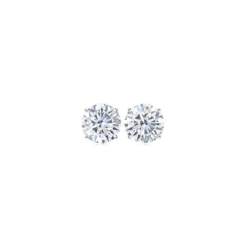Showcase Collection 14KW Diamond Stud Earrings