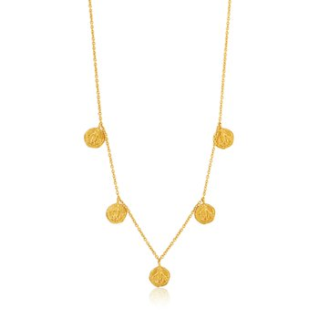 14ky plated Gold Deus Necklace
