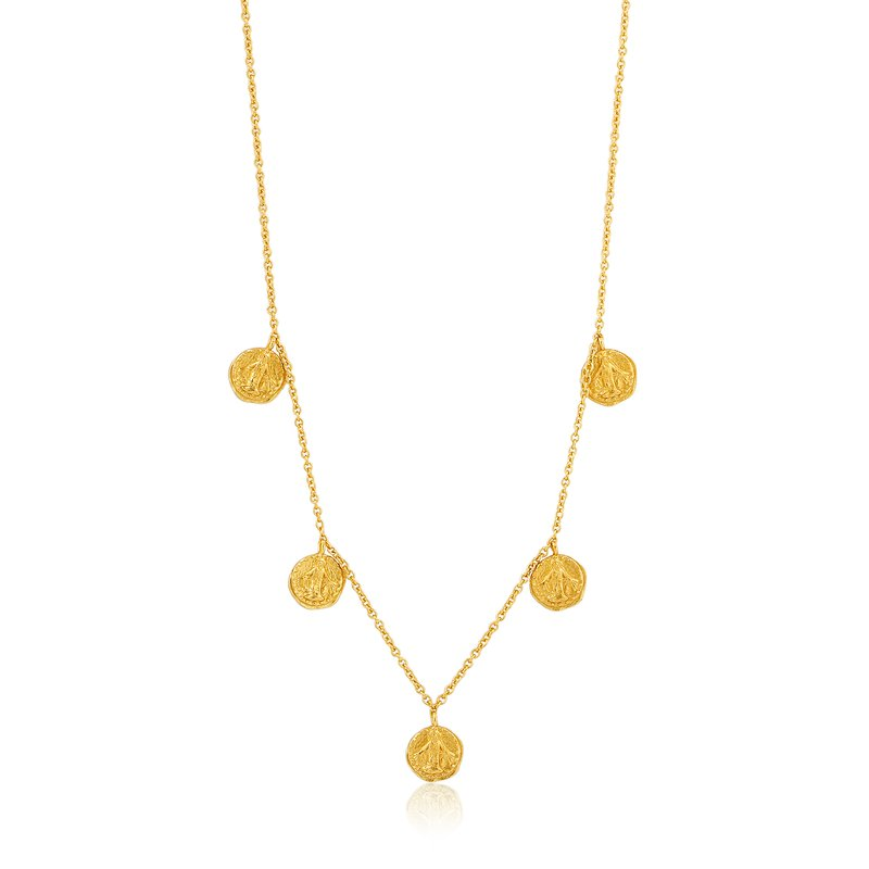 ANIA HAIE 14ky plated Gold Deus Necklace