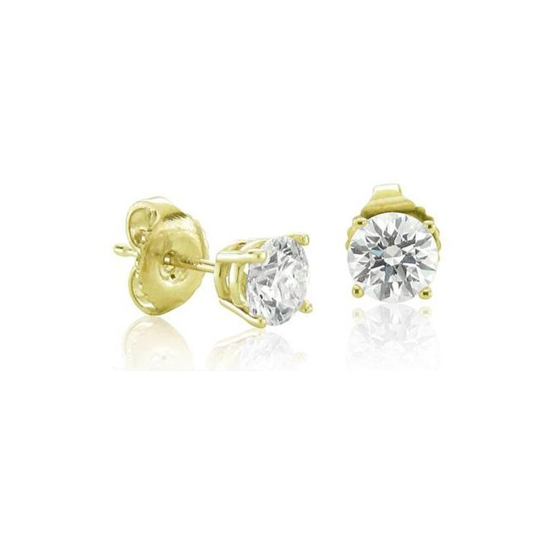 Grandis Signature 14K Yellow Gold Diamond Stud Earrings 0.57 ctw