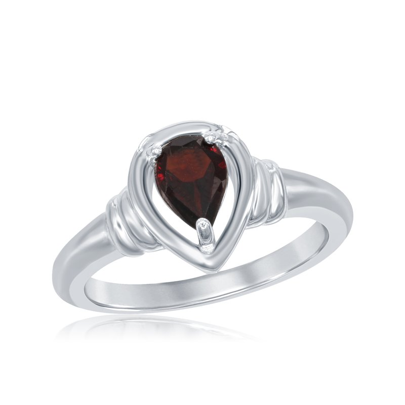 Showcase Collection Sterling Silver Garnet Ring