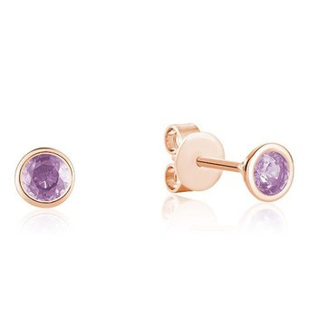 Bezel Set Amethyst Earrings