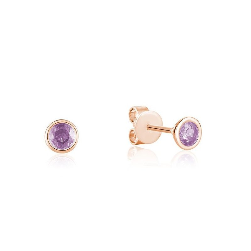 Showcase Collection Bezel Set Amethyst Earrings
