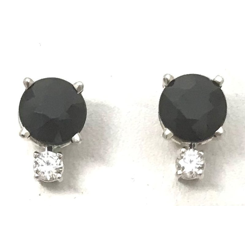 Showcase Collection Sterling Silver Black Sapphire Earrings
