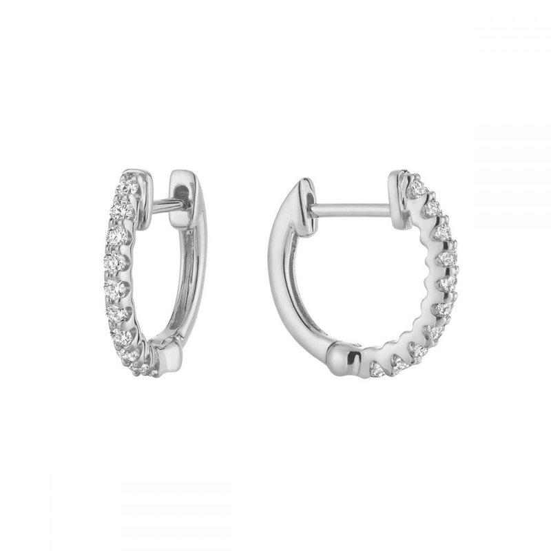 Showcase Collection 14KW Huggy Hoop Earrings