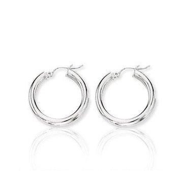 10K White Gold Hoop Earrings