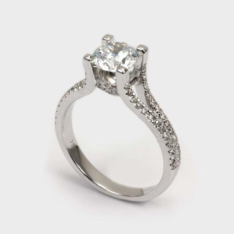 Showcase Collection 18KW Semi Set Engagement Ring