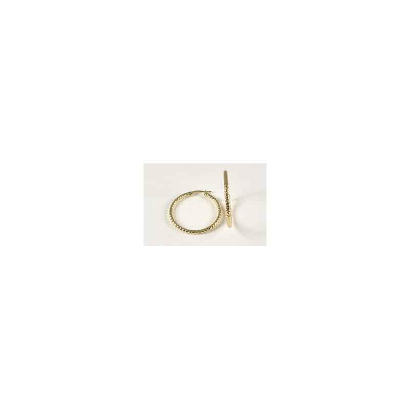 Showcase Collection 10KY Diamond Cut Hoop Earrings