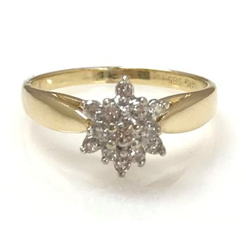 14KY Diamond Cluster Ring