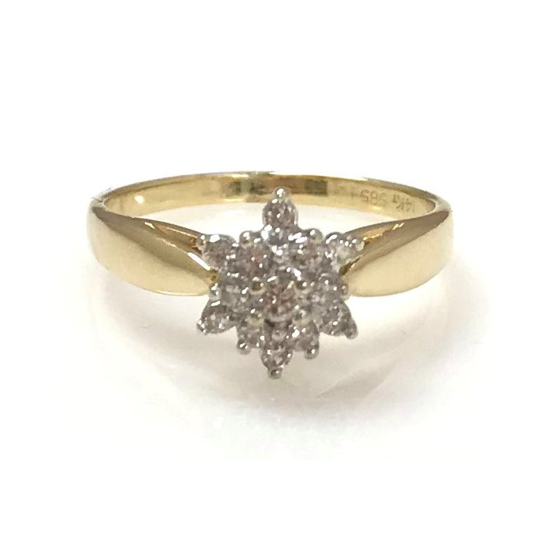 Estate Specials 14KY Diamond Cluster Ring