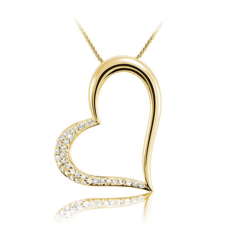 Showcase Collection 14KY Heart Slide with Chain