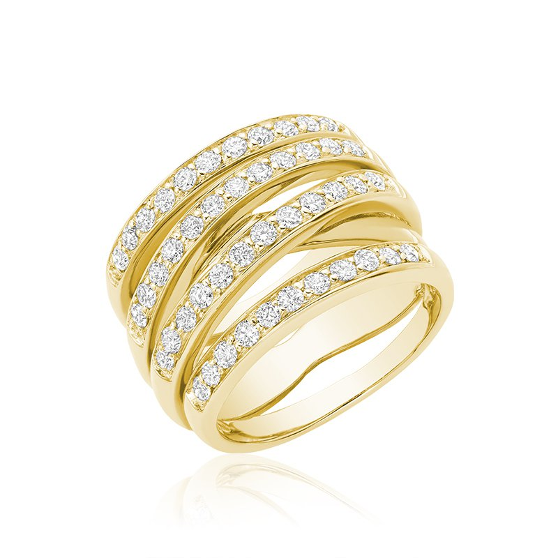Showcase Collection 14KY Multi Band Diamond Ring