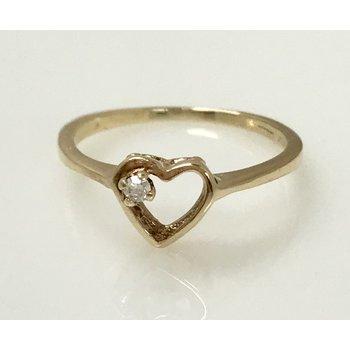 10ky Diamond Heart Ring