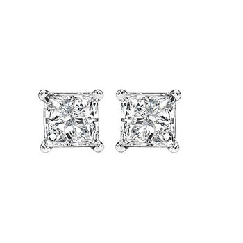 Princess Cut Diamond Solitaire Earrings 0.50 ctw    gjPCWA1/2