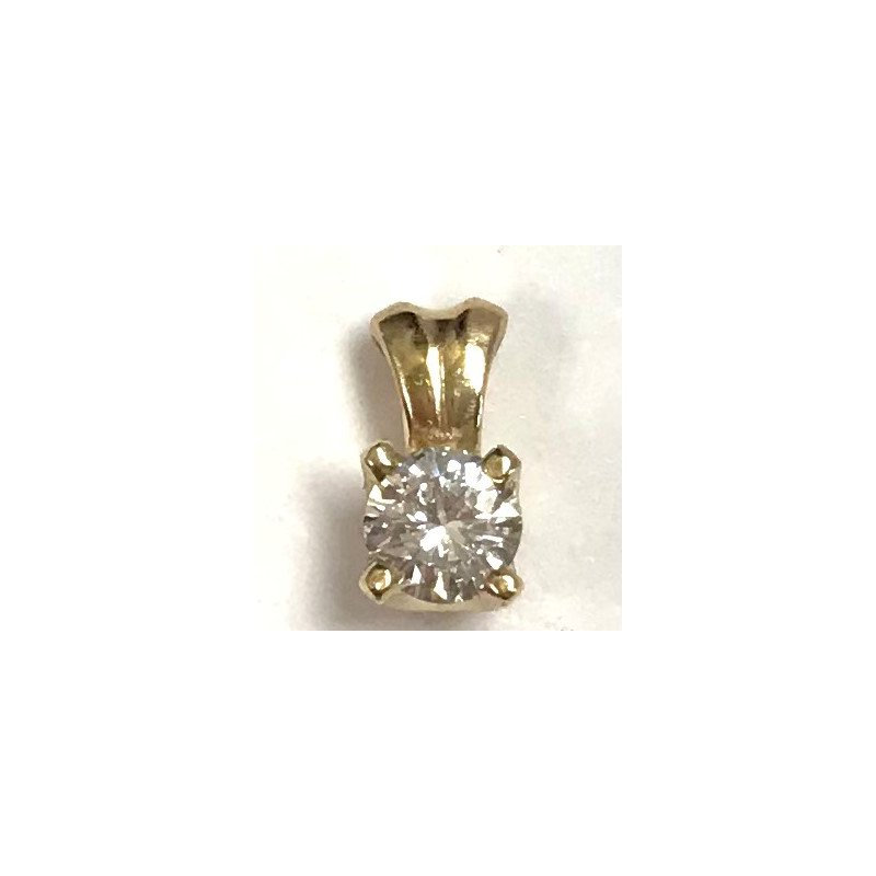 Showcase Collection 14KY Diamond Solitaire Pendant