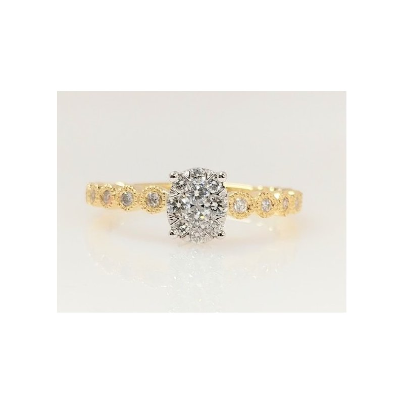 Showcase Collection 14KY Multi Stone Ring