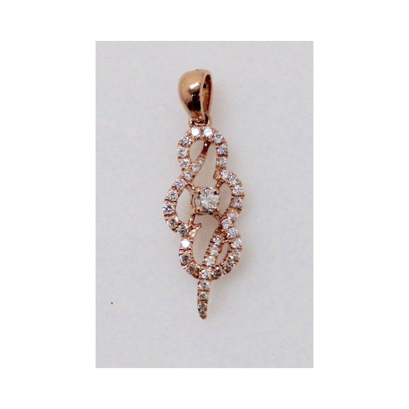 Showcase Collection 14KR Diamond Freeform Pendant