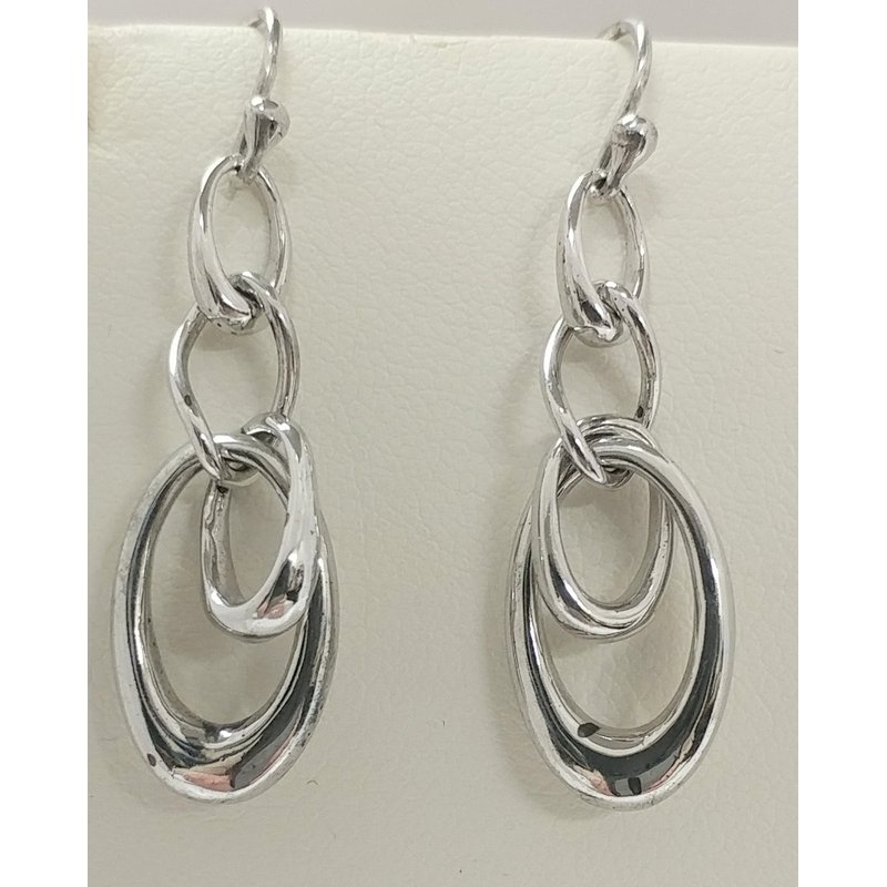 Showcase Collection Sterling Silver Multi Oval Drop Earrings