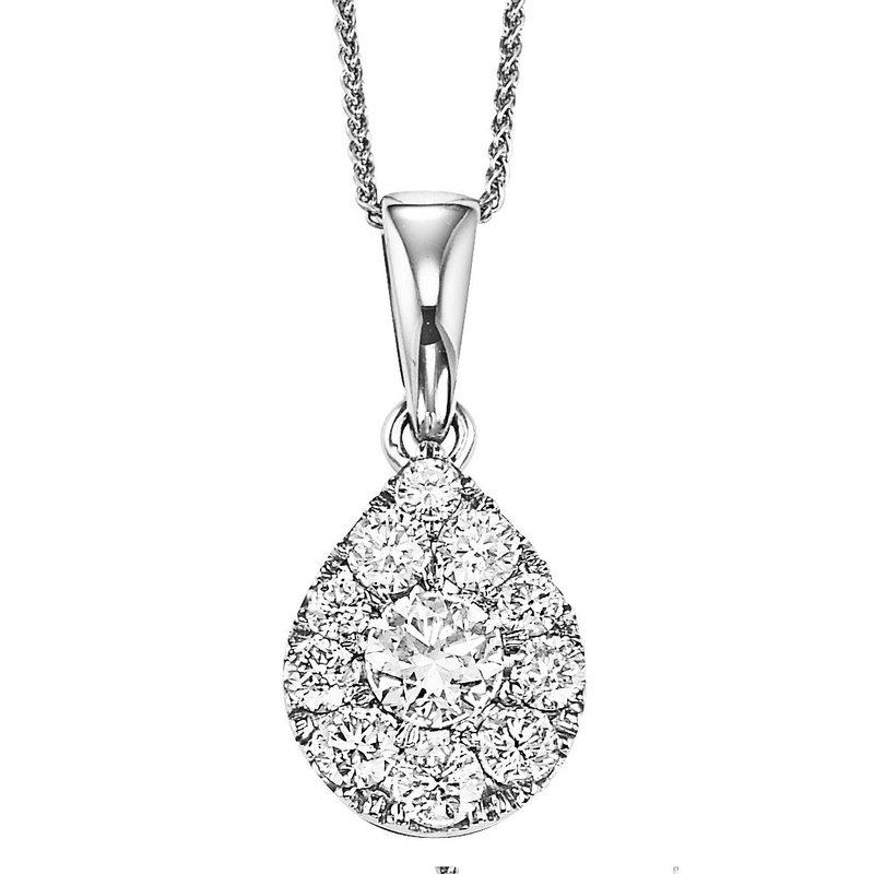 Grandis Signature Diamond Teardrop Shaped Pendant 1ctw