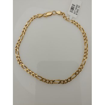 18KY Figaro Bracelet
