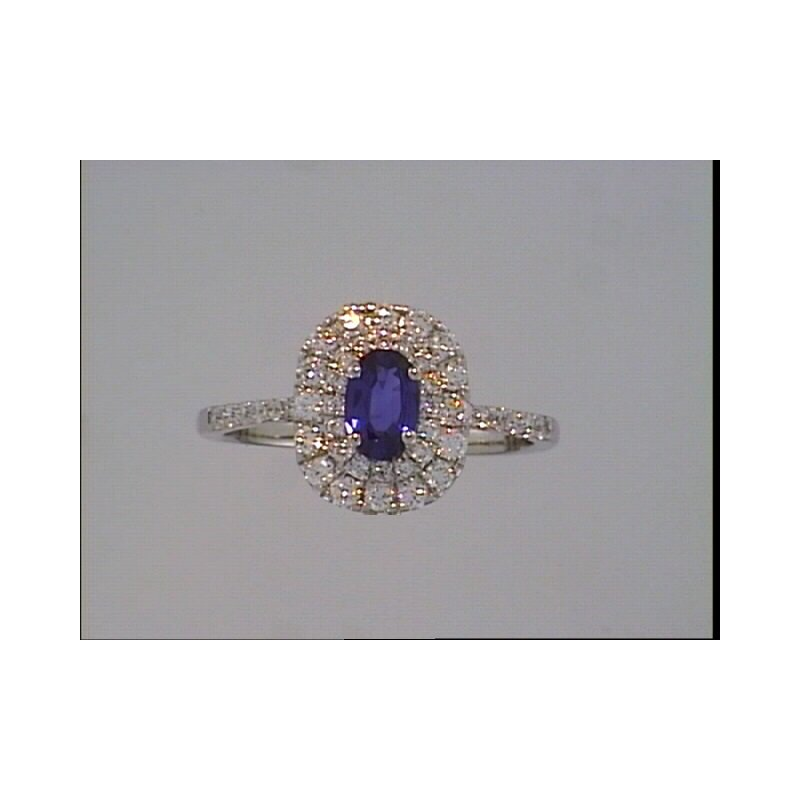 Showcase Collection Double Halo Sapphire Ring