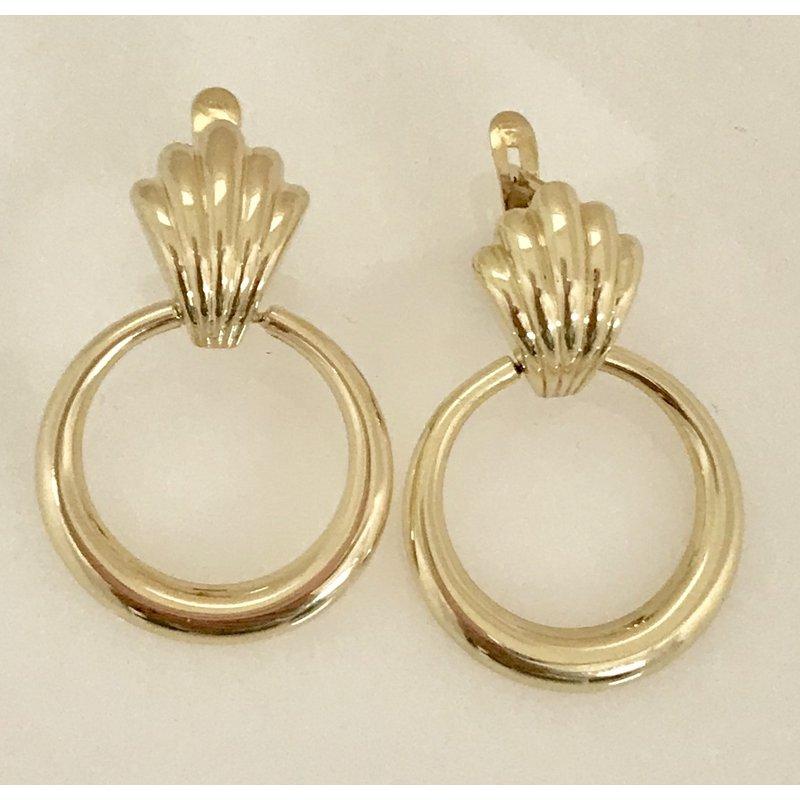 Estate Specials 10KY Doorknocker Earrings